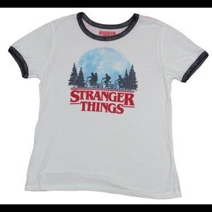 🌺 Stranger Things Netflix Juniors Ringer Tee